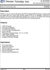 pt2262 datasheet