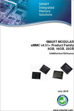 SH8M08GAGTDFAAI01 datasheet - SMART Modular Technologies eMMC