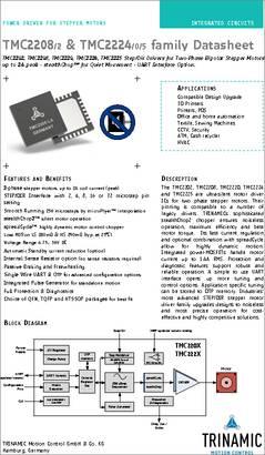 TMC2208-LA-T datasheet - The TMC2208-LA from TRINAMIC is a