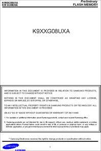 Samsung 1g x 8 bit 2g x 8 bit 4g x 8 bit nand flash memory.