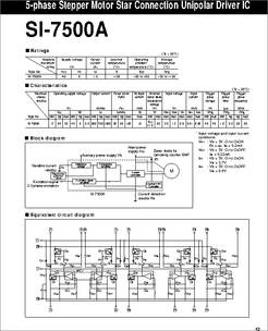 Si 7500a datasheet 5 phase stepper motor star connection for 5 phase stepper motor driver