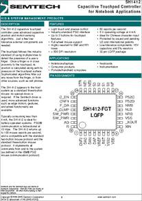 SH1412 datasheet - Capacitive Touchpad Controller for