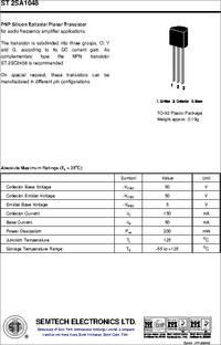 St2sa1015 Datasheet Pnp Silicon Epitaxial Planar Transistor