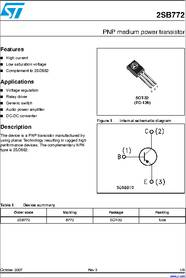 2SB772 Datasheet Transistor Pnp Npn on array ic, cct diagram amplifier constructed, presentation voltage using,