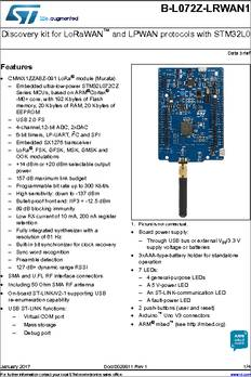 B-L072Z-LRWAN1 datasheet - STMicroelectronics B-L072Z-LRWAN1 STM32