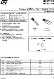 BC337-40 datasheet - Small Signal NPN Transistors