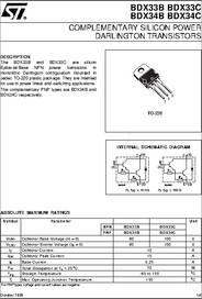 Bdx33c datasheet(pdf) inchange semiconductor company limited.