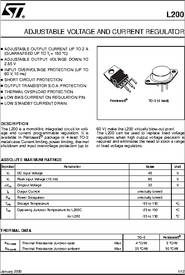 L200CV Adjustable Voltage Regulator