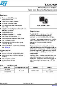 L3G4200D datasheet - MEMS Motion Sensor: Three-axis Digital Output