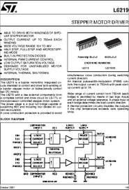 L6219ds datasheet stepper motor driver for Micro stepper motor datasheet