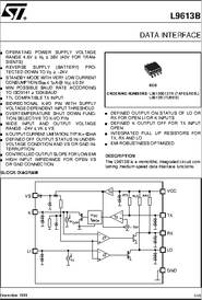 L9613 datasheet data interface related sciox Images