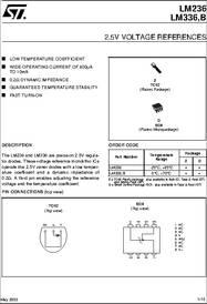 LM336 datasheet - 2.5V Voltage References