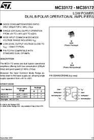 Lot of 50 MC33172N Dual Bipolar Operational Amplifier