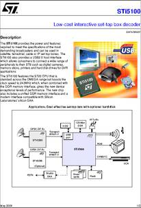 Sti5100-ref datasheet low-cost interactive set-top box decoder.