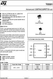 Td351 Datasheet Advanced Igbt Mosfet Driver Td351 Is An