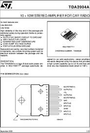 Tda2004a datasheet 10 10w stereo amplifier for car radio some sciox Images