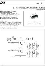 tda7263l datasheet 6 6w stereo amplifier with muting rh digchip com