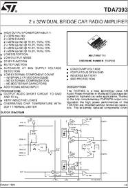 Tda7393 datasheet 2 x 32w dual bridge car radio amplifier some sciox Images