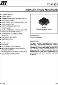 Tda7402 datasheet carradio signal processor some sciox Images