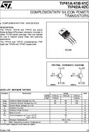 TIP41C datasheet - Completary Silicon Power Transistors
