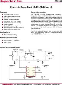 At9933 Datasheet Hysteretic Boost Buck Cuk Led Driver Ic