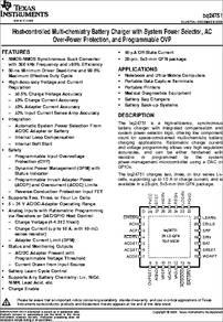 2x TEXAS INSTRUMENTS TI BQ24751 BQ 24751 TI Switch-mode Charger IC Chip