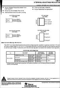LM317 datasheet -