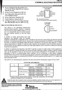 L317lc datasheet,datasheets manu page:12==3-terminal adjustable.