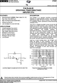 Texas Instruments OPA861ID Transconductance Op Amp 5 V 8-Pin SOIC