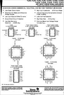 TL080CD datasheet - JFET-input Operational Amplifiers