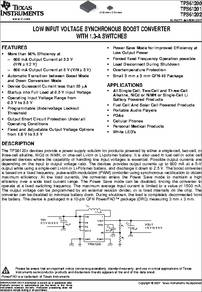 TPS61202 datasheet - The TPS6120x devices provide a power supply