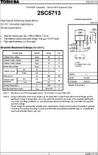2SC5713 datasheet - Silicon NPN Epitaxial Type High-speed Switching