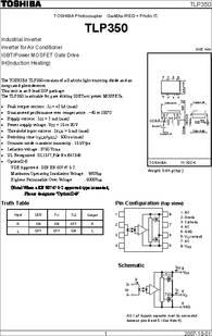 TLP350 datasheet - Gaa§¤as IRED + Photo IC