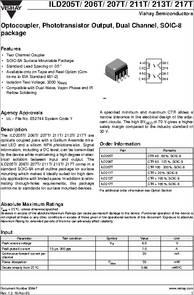 Vishay intertech ild217t pdf datasheet dip optocouplers in.