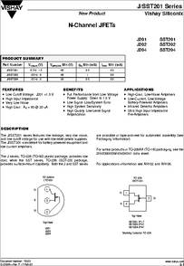 J201 datasheet - Low Noise/low Voltage