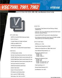 Vsc7982 Datasheet 9 9 11 3 Gbps 50 Dml Eml Driver
