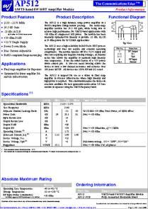 AP603-F AP603 High Dynamic Range 7W 28V HBT Amplifier