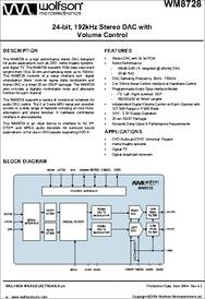 WM 8728 SED WM8728S 24-Bit 192 kHz stéréo ADC SSOP 20