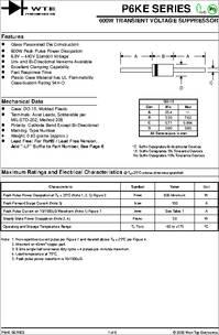 P6ke36a datasheet 600w transient voltage suppressor.