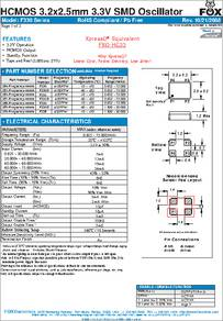 F335-11.0592 MHz datasheet - Specifications: Manufacturer: Fox ...