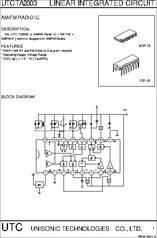 TA2003 datasheet - Am/fm Radio IC