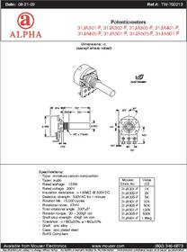 Rv16af 10 20r1 B100k Datasheet Specifications