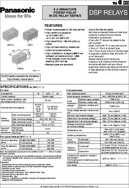 DSP1-DC1 5V datasheet - Specifications: Relay Type: General Purpose
