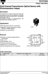 Tcvt1300 datasheet dual channel transmissive optical sensor with some sciox Images