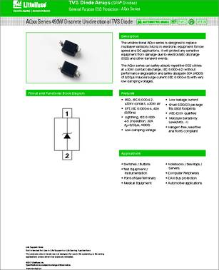 8d51c2f51 Some Part number from the same manufacture Littelfuse. AQ4024-01FTG Littelfuse  AQx Series AEC-Q101 TVS ...
