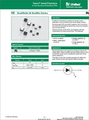S4003LS2 SCR NON-SENSITIVE GATE 3.0A 400V