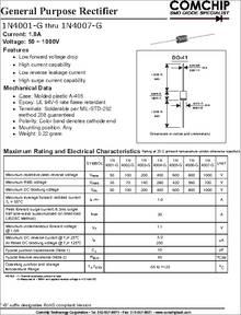 1N4001-A datasheet - General Purpose Rectifier