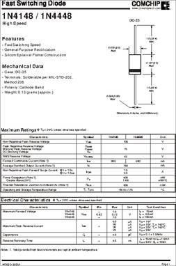 1N4148-G datasheet - Specifications: Diode Type: Standard ; Voltage