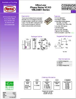 VBLD861-080 0M datasheet - Connor-Winfield's VBLD861 series