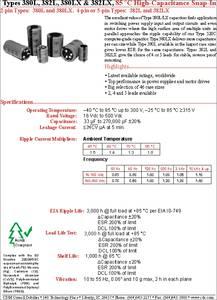 380LX562M080K452 3 Pieces Cornell Dubilier Electronics Aluminum